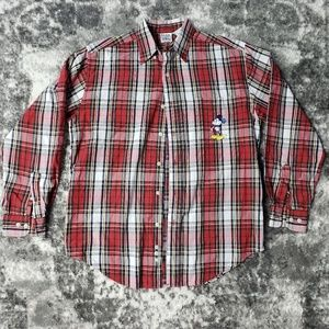 Disney Mickey Mouse Plaid Button Up